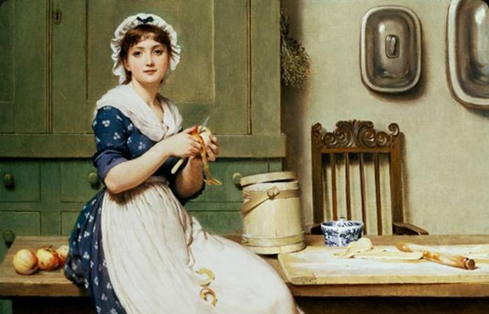 Чисто женские работы и женские рабочие болезни прошлого. Картина кисти Жозефа Каро.
