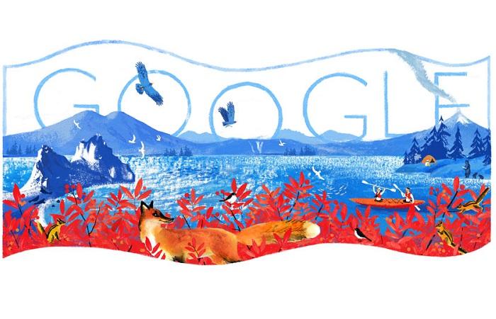 5 россиян, которых чествовал Гугл: как выглядят посвящённые им заставки поисковика. Заставка, посвящённая дню России.