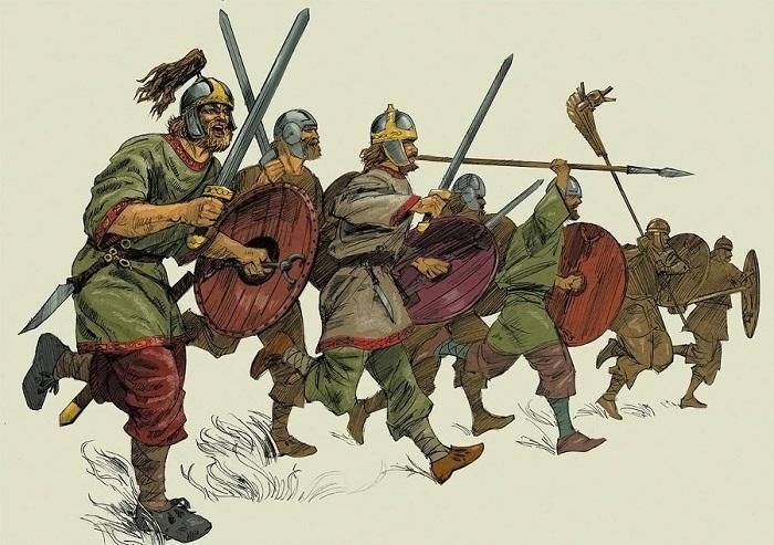 Готы тоже много воевали с римлянами.