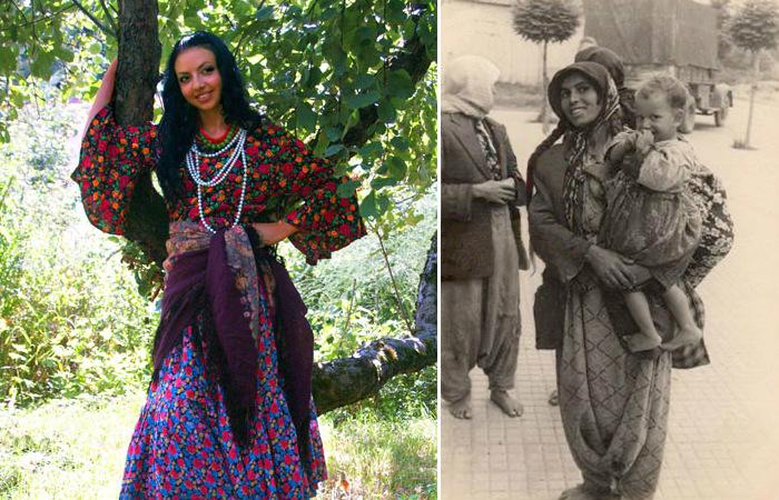 Кто из этих женщин в своём национальном костюме?