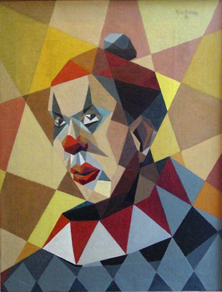 Самсон Флексор, автопортрет в образе клоуна.