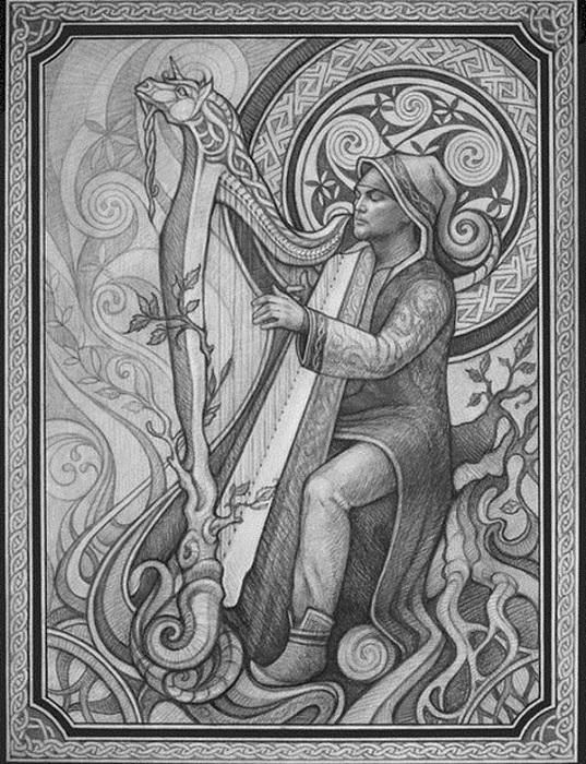 Ирландские филиды учились своему мастерству двенадцать лет и имели семь ступеней мастерства.
