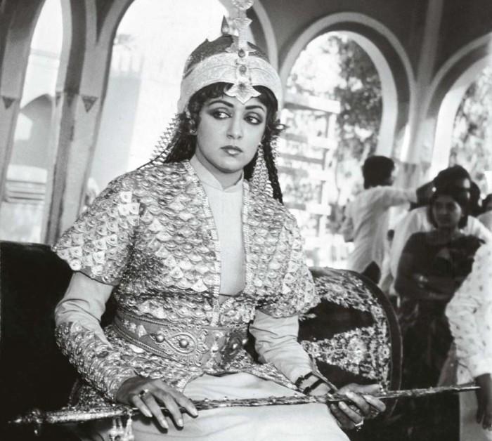 Звезда индийского кино Хема Малини на съёмках фильма о Разие Султан