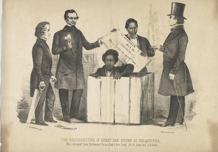 Генри Брауна встречают аболиционисты.