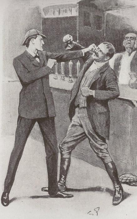 Дойль наградил Холмса отличными боксёрскими навыками, но не заставлял его драться направо и налево. Основным оружием Холмса был его ум.