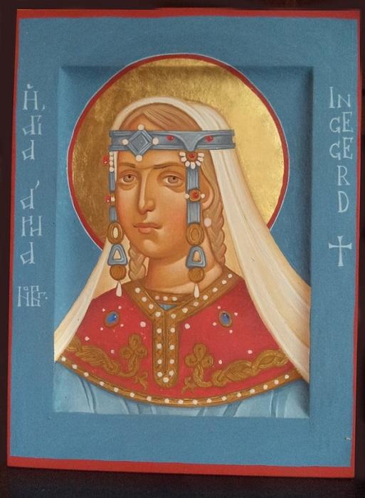 Считается, что Святая Анна Новгородская и принцесса Ингигерда - одно лицо. После смерти мужа Ингигерда ушла в монастырь и взяла новое имя.