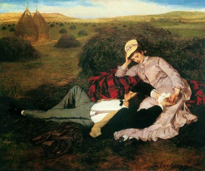 На картине Паля Мерсе явно изображены любовники.