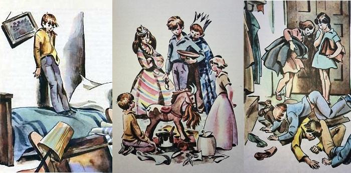 Иллюстрации Евгения Медведева к повести Юрия Сотника.