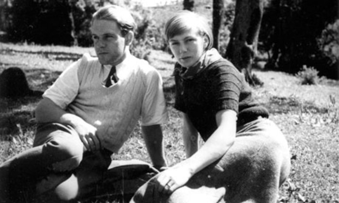 Ларри Даррелл с женой Нэнси.
