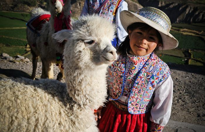 Девочка из бывшей страны инков