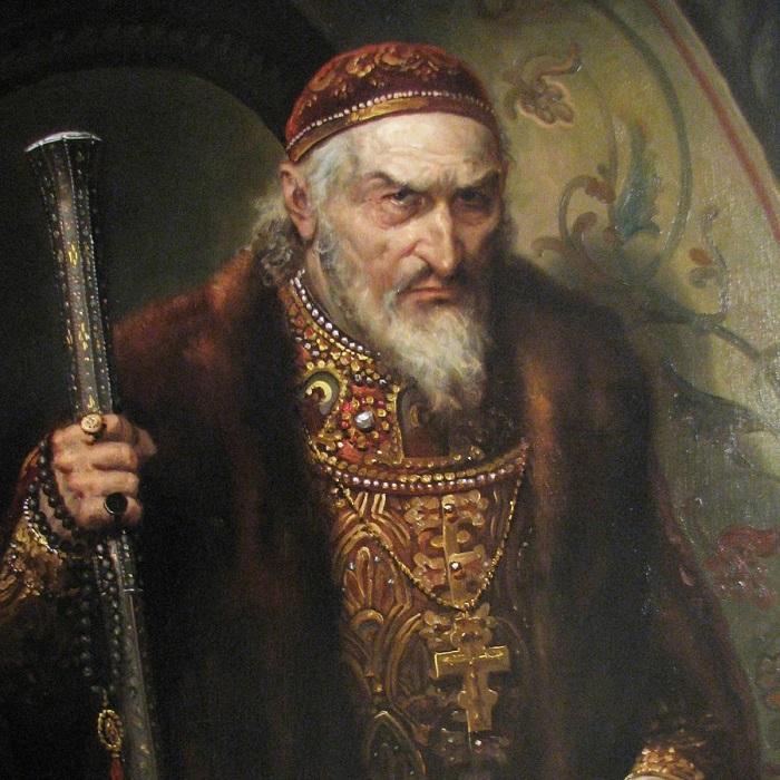 Пожилой Иван Грозный был грузен.