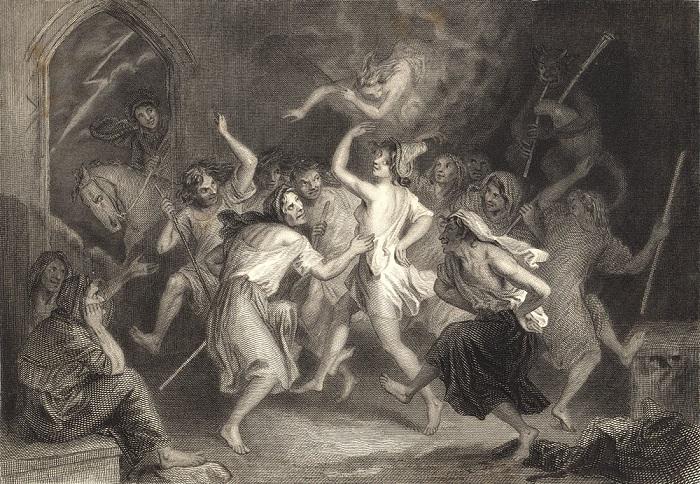 Ведьмы любили потанцевать на шабаше.