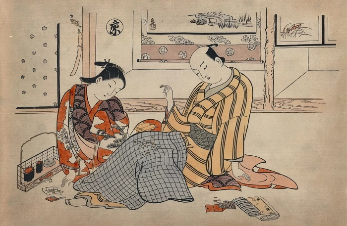 Как японок отучили от свободной любви и права на развод, чтобы сделать их почти европейками. Художник Окумура Масонобу.
