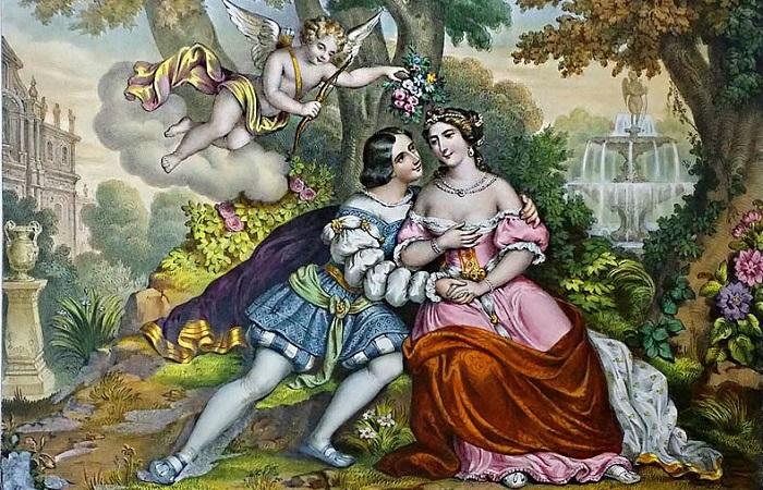 Знаменитые женщины, любившие мужчин намного младше себя. Генрих II и Диана де Пуатье глазами художника XIX века.