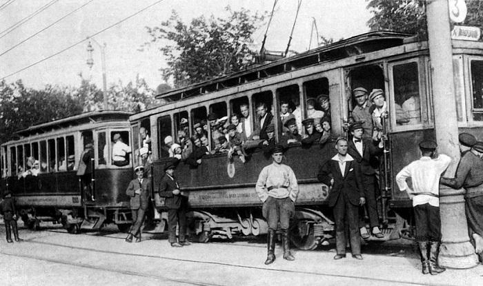 Московский трамвай в 1930-ые.
