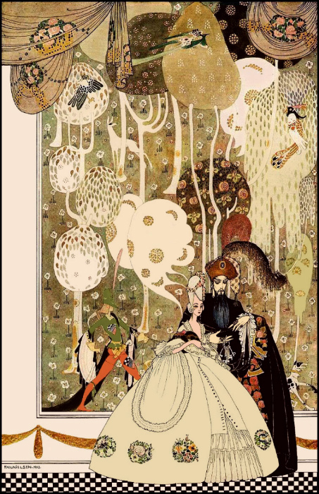 Кай Нильсен, иллюстрация к «Синей Бороде»