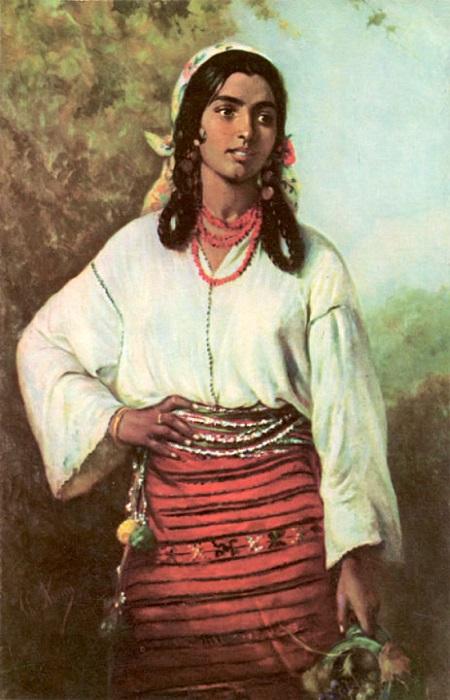 Во время очередной войны с турками цыгане так массово бежали на волю на юг, что учёные говорят о великой обратной миграции. Картина Теодора Амана.