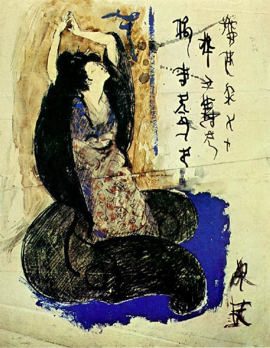 Портрет Садаякко авторства Пабло Пикассо, её поклонника.