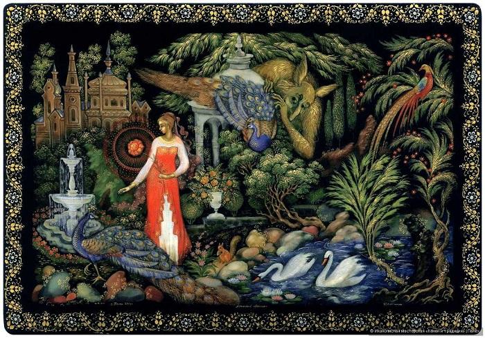 Один из вариантов сюжета о красавице и чудовище - сказка про аленький цветочек.