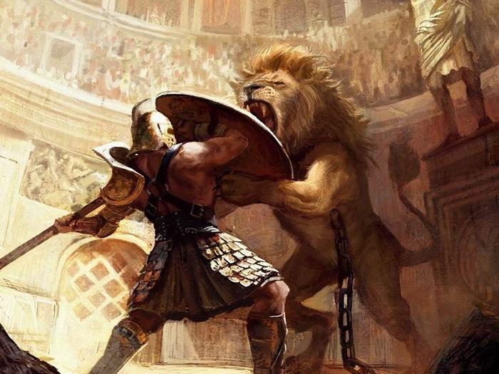 С животными сражались не так уж часто.