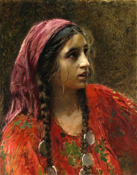 Генетические родственники цыган живут в таких индийских штатах, как Кашмир и Пенджаб. Картина Константина Маковского.