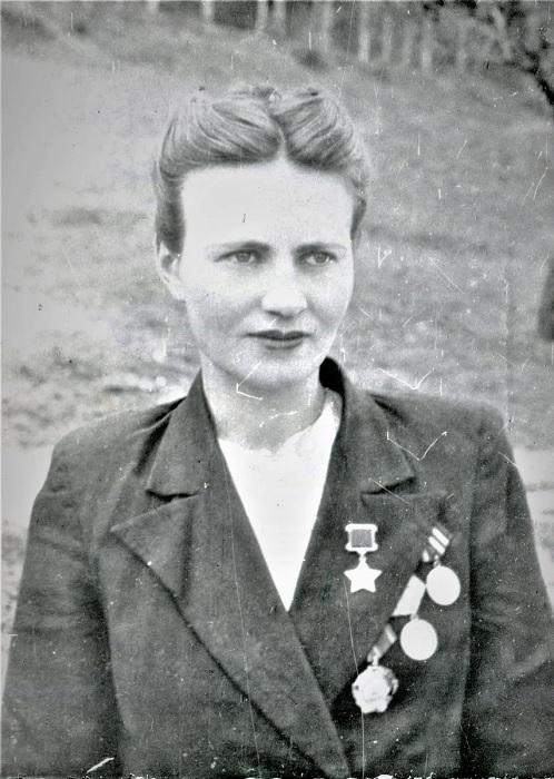 Мария Байда в молодости, вскоре после войны.