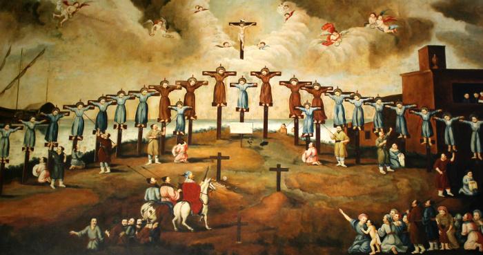 Первые христианские мученики Японии.