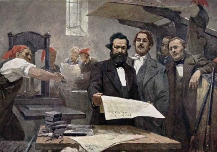 Энгельс писал статьи и до знакомства с Марксом, но качество его статей на порядок улучшилось, когда они стали тесно общаться.