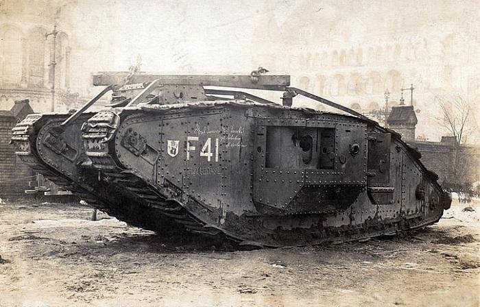 Самец британского танка.