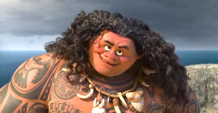 Мауи и его очень честное лицо. Кадр из мультфильма «Моана» студии «Дисней».