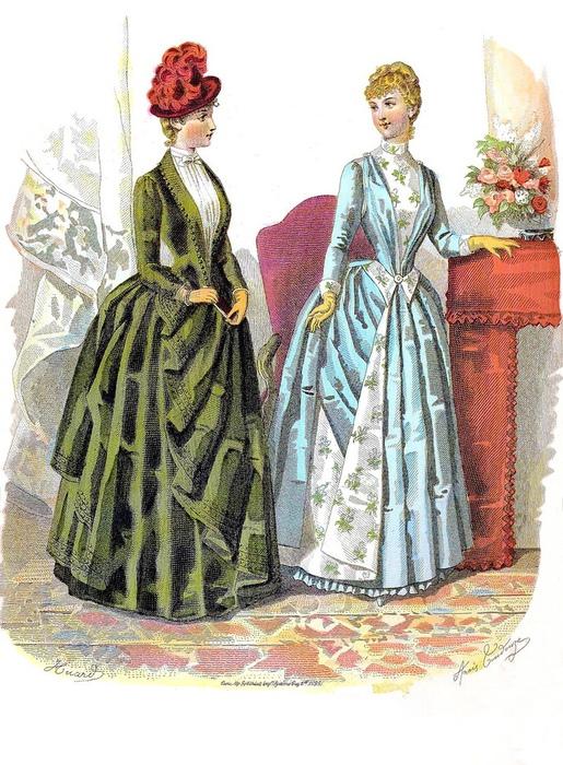 Большую часть девятнадцатого века девушки закрывали грудь, но в какой-то момент делали это слишком прозрачной блузкой.