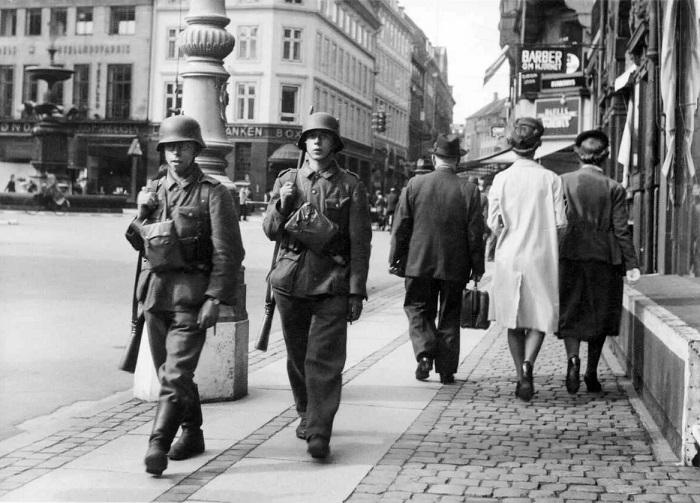 Нацисты в Копенгагене.
