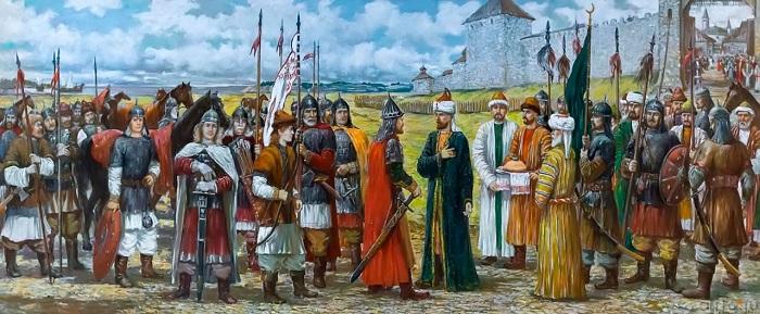 Булгары то воевали с соседями, то вступали в союз. В общем, это обычно для истории соседних народов в любом краю земли.