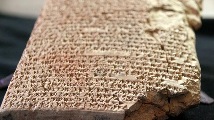 Табличка с рецептами, из вавилонской коллекции Йельского университета.
