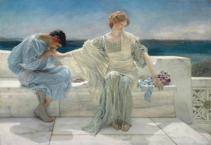 Лоуренс Альма-Тадема был популярным художником, которого прославили картины об античности.