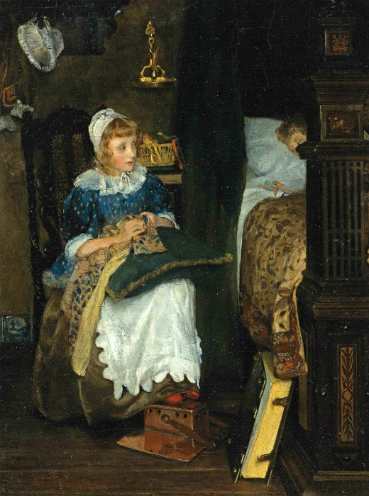 Лаура Альма-Тадема рисовала голландцев семнадцатого века.