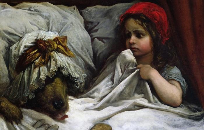 В какой-то момент Красную Шапочку стали изображать умильным ребёнком, а не подростком. Но совсем маленькой девочке совершенно не с чего путешествовать через весь лес.