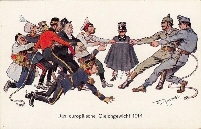 В плане пропаганды в Первую мировую, конечно, старались все страны. Вот, например, немецкая.