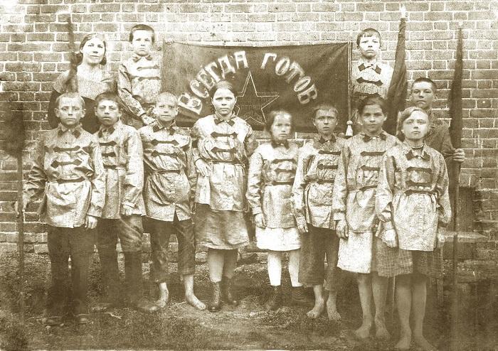 Советские школьники двадцатых.