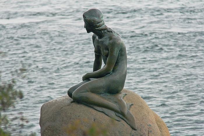 Русалочка в Копенгагене.