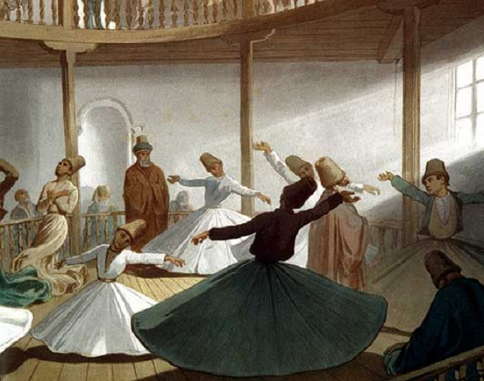 В наше время танец дервишей исполняется только в белом костюме, но когда-то это было необязательно.