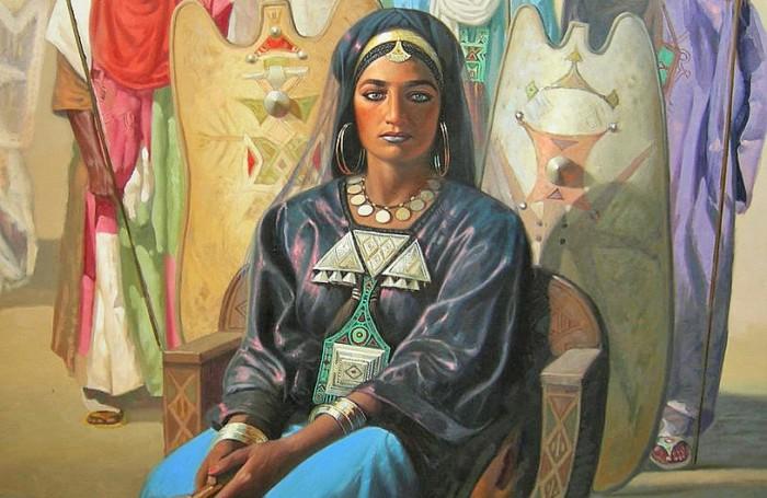 У некоторых народов существовало женское письмо, например, у туарегов