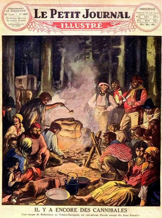 Обложка журнала с цыганами-людоедами.