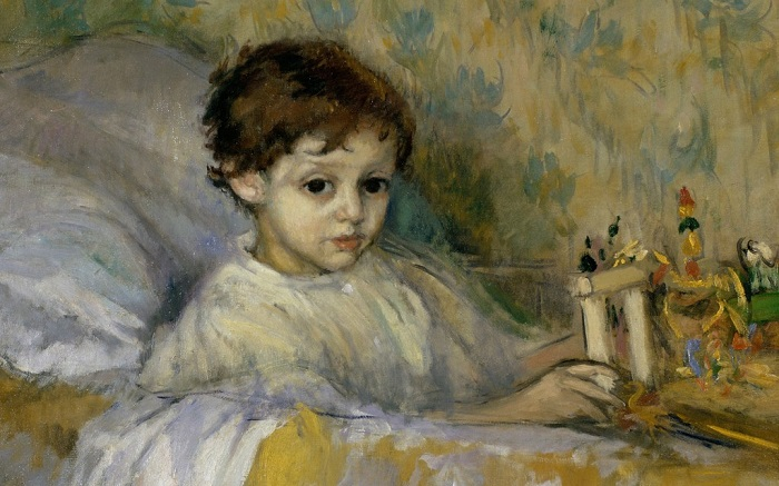 Маленький Гоголь часто болел. Портрет больного ребёнка от художника Канальс и Льямби.