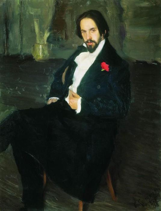 Портрет Ивана Билибина от Бориса Кустодиева.