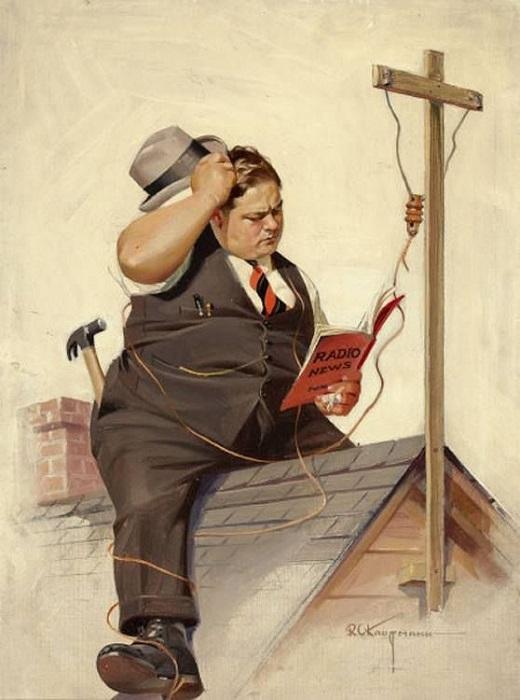 Картина Нормана Роквелла.