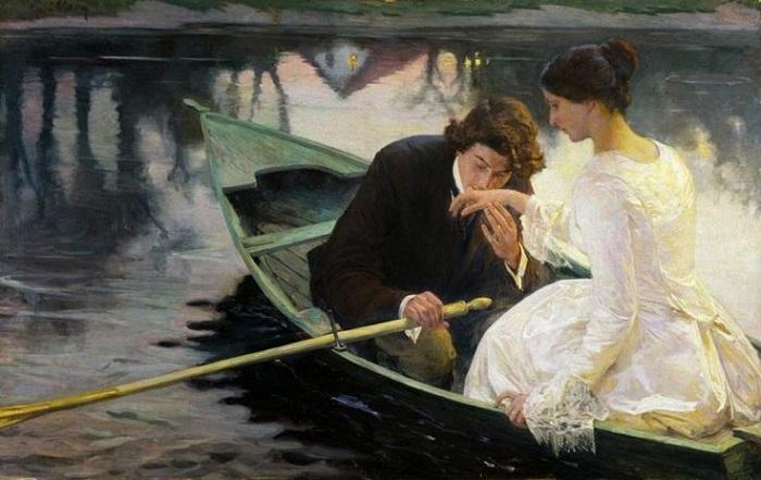 Любовь - это не лекарство. Картина Франца Пауля Гиллери.