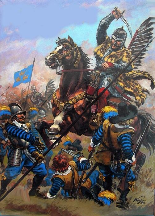 Поляки наступают на шведов.