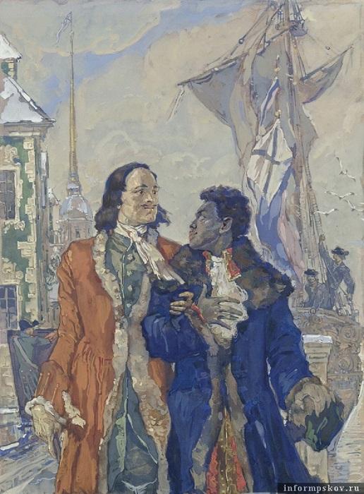 Царь Пётр и Абрам Ганнибал глазами Леонида Фейнберга.