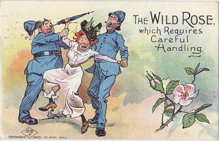 Карикатура на суфражисток.